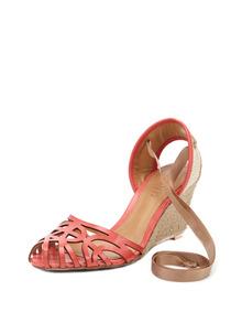 Schutz Laser Cut Out Espadrille Sandal